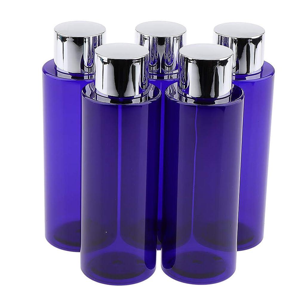 トースト居眠りする文化P Prettyia 5本 化粧ローションボトル 液体ボトル 旅行小物 3サイズ選べ - 200ML