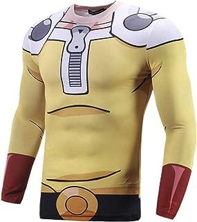 COGA Anime Long Sleeve Compression Shirt for Men