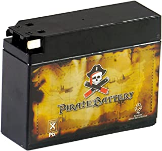 YT4B-BS Sealed Motorcycle Battery - Rechargeable Replacement - Factory Sealed and Activated - AGM - Pirate Battery