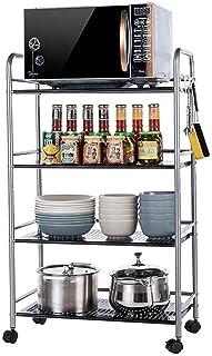 Porte-ustensiles étagères Cuisine plateau, Storage Rayonnage Etagère à quatre niveaux de consommation métalliques panier d...