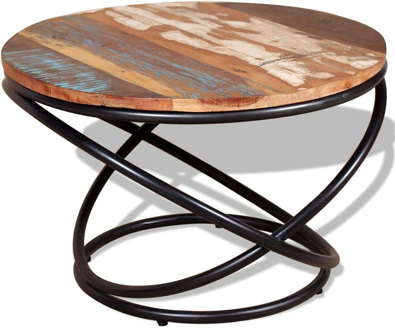 VidaXL Solid Reclaimed Wood Coffee Table 60x60x40cm Living Room Furniture