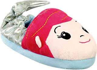 Tootsie Style Little Girls Mermaid Plush Sparkle Slippers Non Slip Full Foot