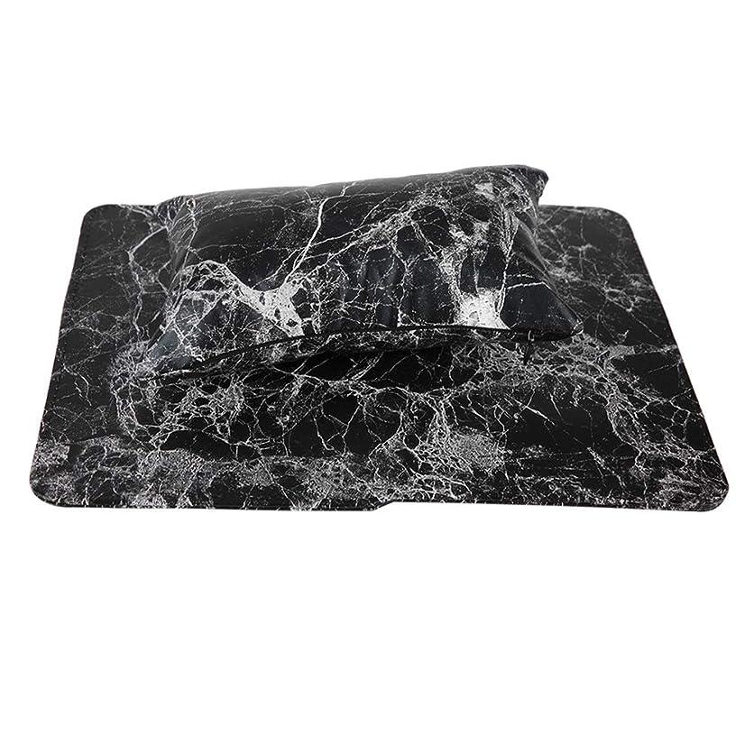 タブレット神話プロフィール新しいネイルハンドピローアップ材料は手洗いすることができます(黒)
