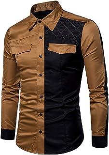 Men's Shirt Slim Fit Long Sleeve Shirt Leisure Business Wedding Party Shirt Breathable Comfortable Shirt Kent Collar Class...