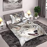 Faro Textiles Wild Collection Wolf Single Duvet Set 140 x 200cm / 70 x 90cm (Wolf 140 x 200)
