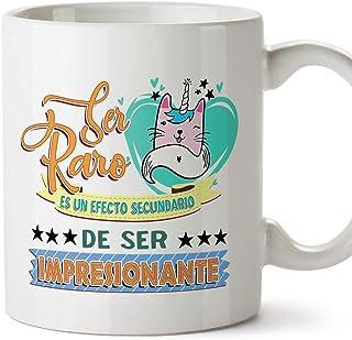MUGFFINS Taza Graciosa Ser Raro es un Efecto secundario de ser Impresionante - Regalos Divertidos con Frases para Desayuno