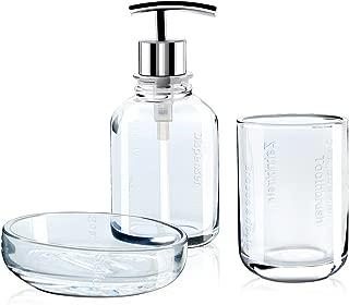 Best clear glass bathroom accessories set Reviews