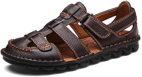 Frauen Rindsleder Sandalen Xia Jiqing Mantel Sport Sandalen Outdoor Sandalen Herren Slip Sandalen Freizeitschuhe Herren Sandale