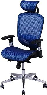 アイリスプラザ オフィスチェア エクストラクール ハイバック メッシュ 通気性抜群 ヘッドレスト 可動式アームレスト ロッキング機能 無段階昇降 長時間 デスクワーク ブルー