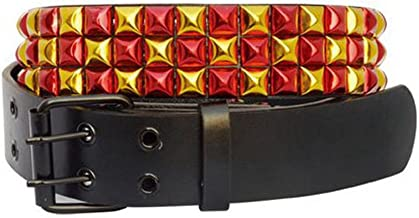 Accessoryo Women's Metallic 2 Tone Studded Belt
