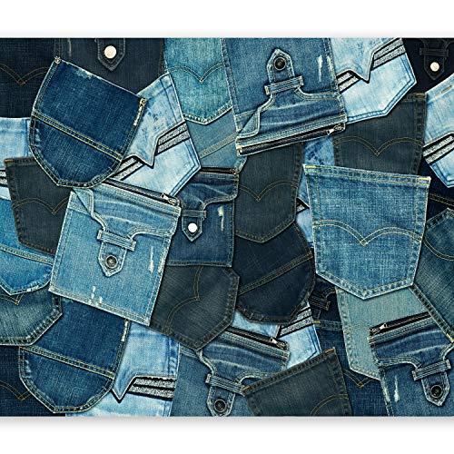 murando - Fototapete 400x280 cm - Vlies Tapete - Moderne Wanddeko - Design Tapete - Wandtapete - Wand Dekoration - Jeans Textur f-A-0434-a-b