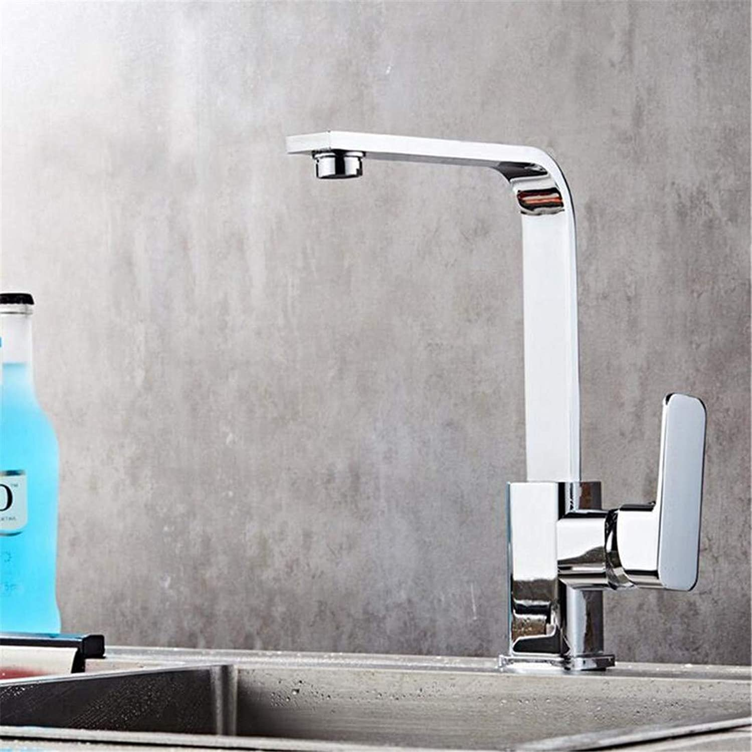 Hot and Cold Water Brass Chrome Kitchen Taps Kitchen Sink Hot and Cold 360 Degree redatable Basin