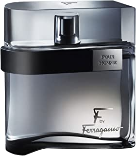 Ferragamo F Black Eau De Toilette Spray For Men, 3.4 Ounce
