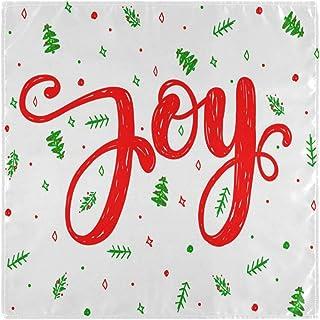 CaTaKu Lot de 6 serviettes de table en tissu de Noël Motif arbre de Noël