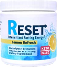 RESET - New! Fasting Hydrating Energy Powder, Keto, B-Complex, Electrolytes, Himalayan Pink Salt, Green Tea and Green Coffee Extracts, 30 Servings, Sugar Free, Morning and Afternoon Energy Boost!
