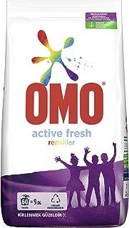 Omo Active Fresh Toz Çamaşır Deterjanı Renkliler İçin Renklilerinizi Koruyarak En Zorlu Lekeleri İlk Yıkamada Çıkarır 9 KG...