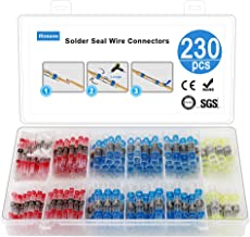 Riseuvo 230pcs Solder Seal Wire Connector - Heat Shrink Butt Connectors, Waterproof Insulated Electrical Butt Terminals, Wire Splice for Automotive Marine Boat Truck Trailer Wiring