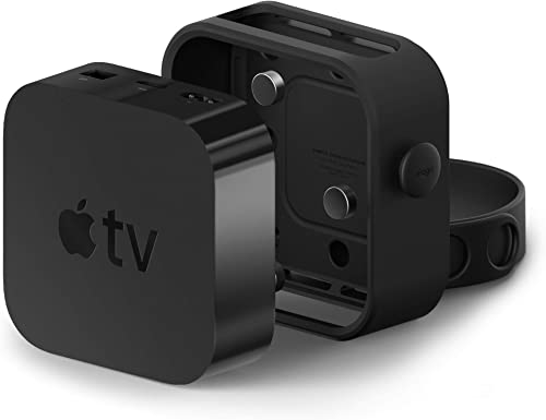 elago Apple TV Mount - Easy Installation : Magnet/Screw/Strap, Premium Silicone - Compatible with Apple TV 4K, 5th Ge...