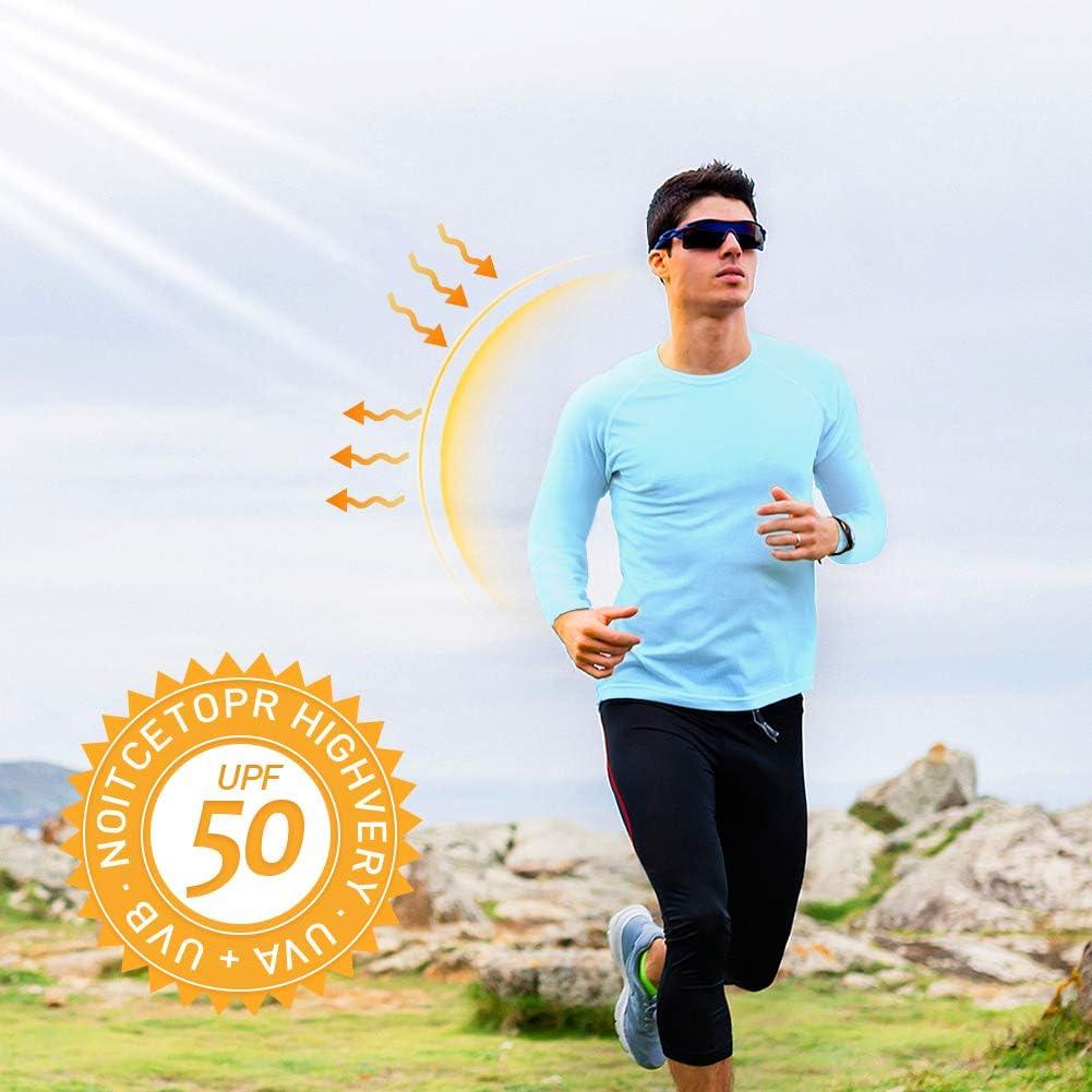 Long Sleeve Sun Shirts for Men UV Protection Fishing Shirts T-Shirt Outdoor Hiking Base Shirt Autumn Winter