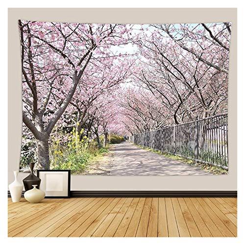 Nostalgie Tapiz Pared Cherry Blossoms Fantasy Tapices Tapicura Hippie Dormitorio Decoración Psicodélico Tapicería Macrame Mandala Tapicería Colgar en la Pared (Color : 21, tamaño : 2300 MMX1500 MM)