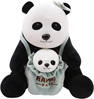 Beatrbior Cuddly Stuffed Animal Mother and Son Soft Plush Toy Love Gift for Thanksgiving, Christmas, 2020 New Year Gift (Panda Mother and Child)