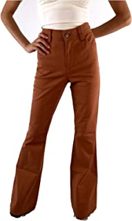 Women's Stacey Flare Bell Bottom Jeans 2 Burnt Orange