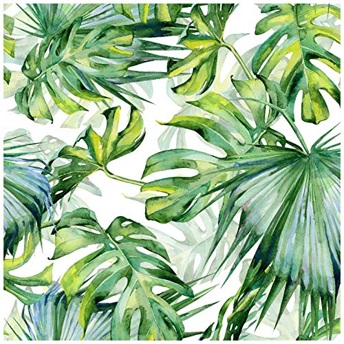 Blooming Wall Peel&Stick Tropical Palm Leaf Self-Adhesive Prepasted Wallpaper Wall Mural (025)