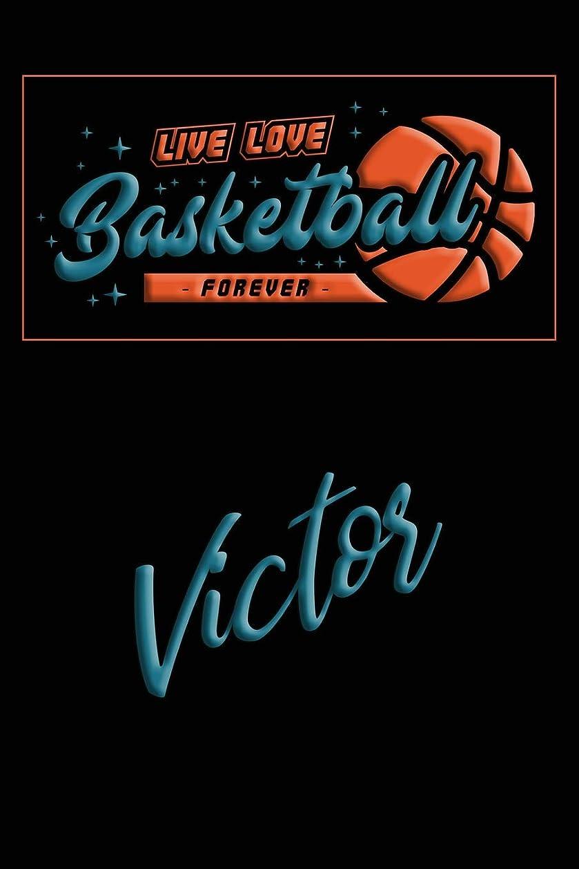 紫の入場料ルアーLive Love Basketball Forever Victor: Lined Journal |College Ruled Notebook | Composition Book | Diary