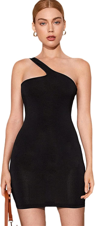 SheIn Women's Basic Sleeveless Strappy Cami Dresses Plain Bodycon Mini Club Dress