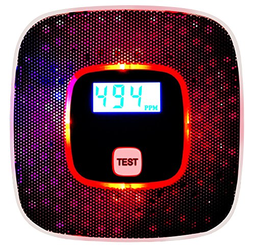 Sunnec Carbon Monoxide Alarm w/ Voice Warning ,CO Alarm Detector w/Digital Displ
