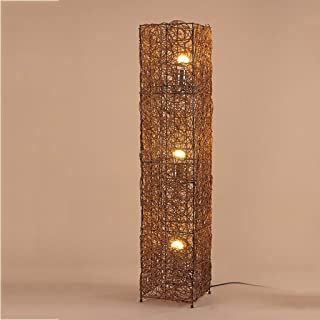 Table Lamp Floor Light Lamp Floor Lamps Modern Fashion Cube Rattan Floor Lamp, Creative 3 Lamp Living Room Bedroom Study F...