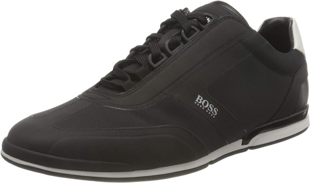 Boss saturn_lowp_nyrs, scarpe da ginnastica,sneakers per uomo,in similpelle e tessuto 50452024
