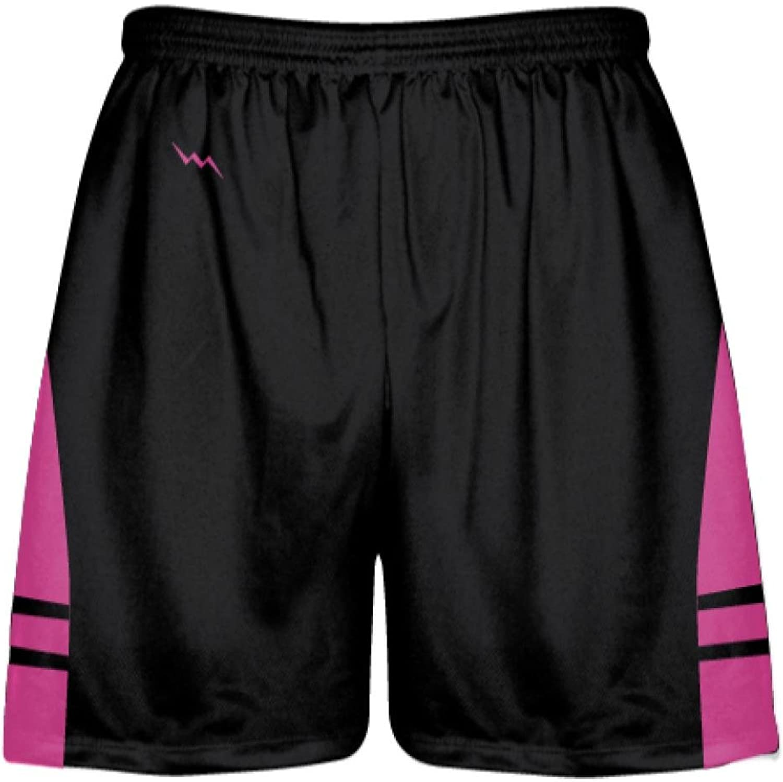 LightningWear Black Hot Pink Youth Adult Lacrosse Shorts