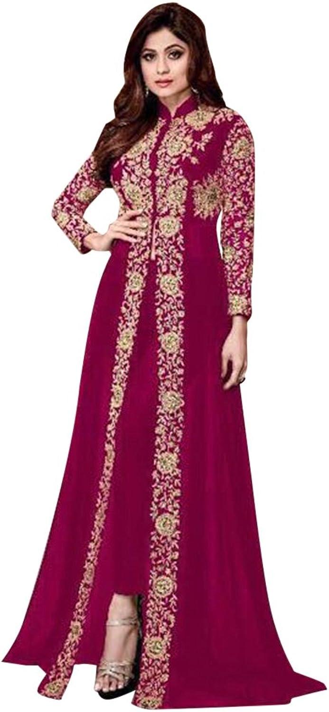 Bollywood Collection Anarkali Salwar Kameez Suit Ceremony Bridal Muslin Ethnic 651 f