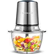 Electric Food Processor, MOSAIC... Electric Food Processor, MOSAIC Stainless Steel Meat Grinder and Food Chopper with 4 Titanium...