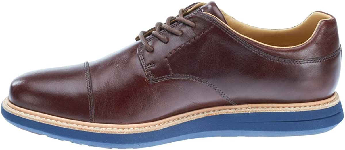 Sebago Men's Smyth Cap Toe Oxfords, Brown Leather, 11 M