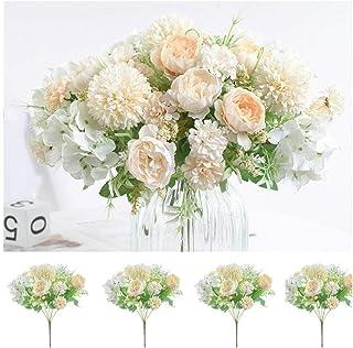 Fleurs artificielles, Pivoine, chrysanthème Boule, œillet, Hortensia, Composition Florale, décoration Florale, Bouquets de...