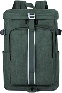 Laptop Bags New 16-Inch Casual Men's Shoulders Waterproof and Wearable Large Capacity Portable Notebook Bag(Color:Green,Size:16 Inch)