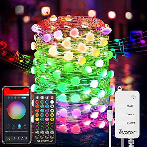 Avatar Controls Smart Fairy String Lights, 32.8FT 100LED Dreamcolor Changing Fairy Lights with Remote WiFi Control Music Sync Work with Google Home Alexa USB Powered for Christmas Decoration