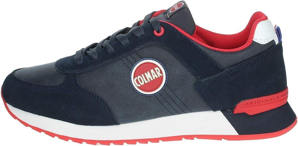 Colmar travis colors boost 300, sneakers uomo,in pelle scamosciata 746_20517