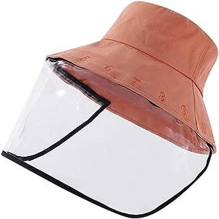 KCBYSS Adjustable Size Dustproof Hat Fishing Cap Outdoor Cap Anti-Spitting Hat Visor Hat Protection Face Neck Cover Protective Cap (Color : Orange)