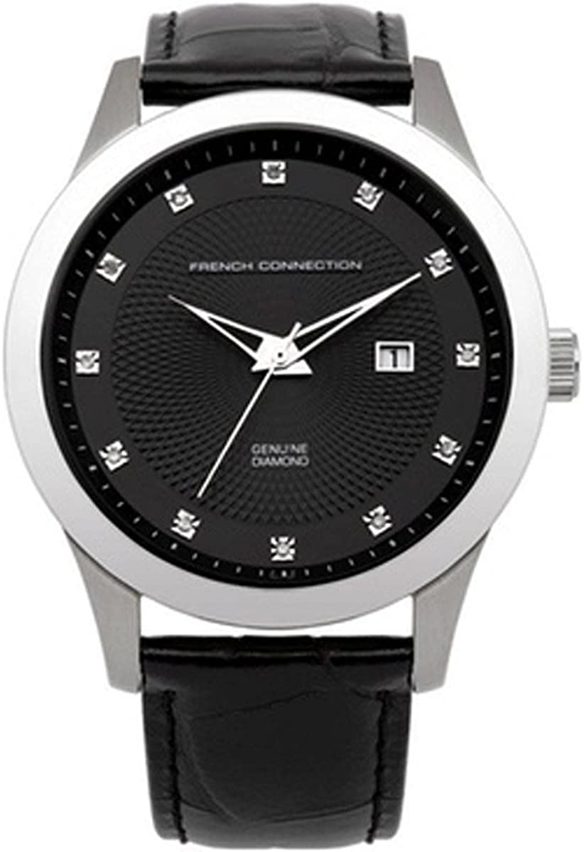French Connection Men's Quartz Watch Dial Black Ranking TOP1 Max 64% OFF Di with Analogue