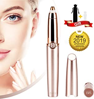 Eyebrow hair Trimmer Epilator for Women, Sikii Eye brow Remover Painless Facial Brows Hair Removal with LED Light for Good Finishing and Well Touch As Seen on TV (Rose Gold)
