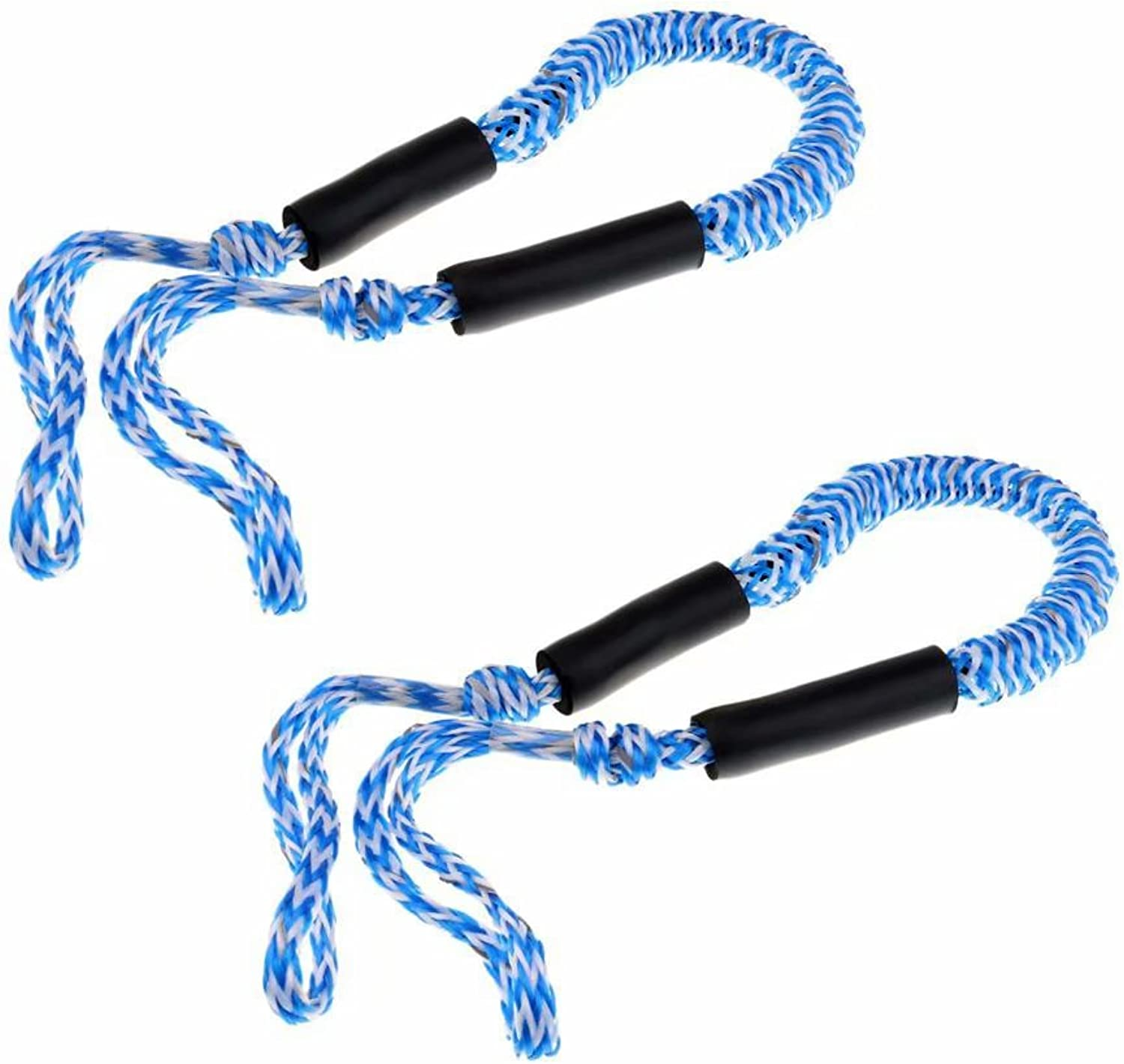 Jranter Bungee Dock Line Mooring Rope for Boat 3.5 ft 2 Pack