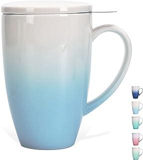 Brewing Tea Mug with Infuser, 15 Oz, Teanagoo, M018-C, Lt. Blue, Tea Diffuser for Loose Tea Mug, Tea Infuser Mug for Wome...