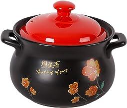 Health Pot Ceramics Casserole High Temperature Resistance Stewpan With Lid 2.8L