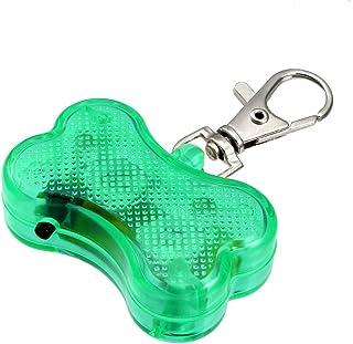 uxcell LEDドッグタグ 骨形状 安全な夜の犬の歩行 ダークのフラッシュ 48 * 30 * 15mm グリーン
