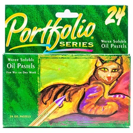 Water Soluble Assorted 24//CT Portfolio Oil Pastels Sold as 1 Box