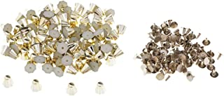 MOPOLIS Wholesale 100 Sets Bucket Shape Rivets Studs Rapid Rivets for Leather Crafts | Color - Gold