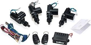 KKmoon Universal Auto Türschloss Keyless Entry System Zentralverriegelung Fernbedienung Kit mit 2 Klappschlüssel Unterstützung Trunk Pop